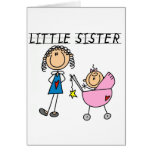 Pequeña hermana con las camisetas grandes del SIS Felicitación
