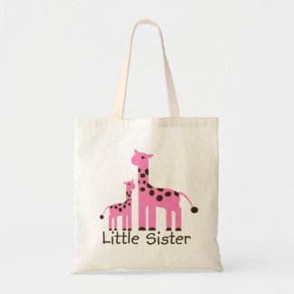 Pequeña hermana de la jirafa bolsas de mano