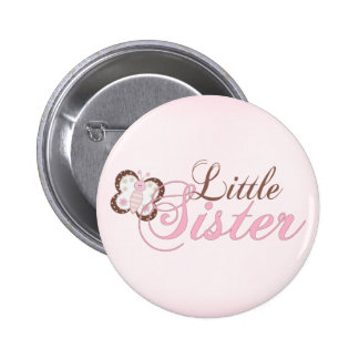 Pequeña hermana de la mariposa 2 rosados pin