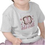 Pequeña hermana de la mariposa rosada camiseta