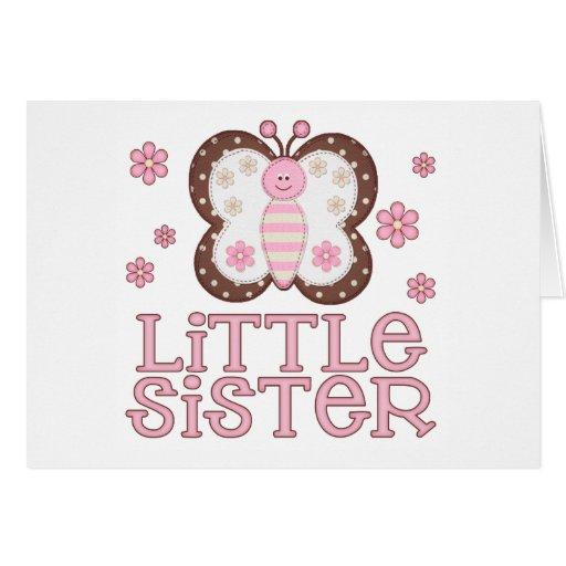 Pequeña hermana de la mariposa rosada felicitacion