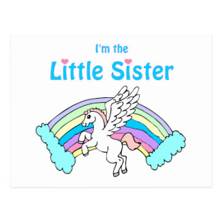 pequeña hermana del unicornio tarjetas postales