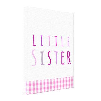 Pequeña hermana en rosa impresion en lona