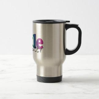 Pequeña hermana - flores del arco iris taza de café