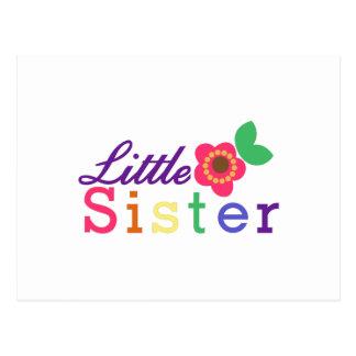 Pequeña hermana tarjeta postal