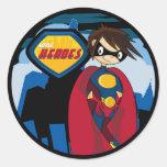 Pequeña hoja del pegatina del super héroe de los