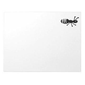 Pequeña hormiga linda libreta para notas