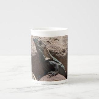 Pequeña iguana en las rocas; Ningún texto Tazas De Porcelana
