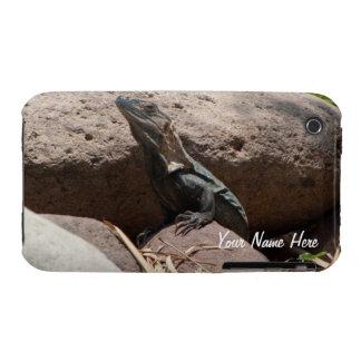 Pequeña iguana en las rocas; Personalizable Carcasa Para iPhone 3
