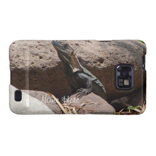 Pequeña iguana en las rocas; Personalizable Galaxy SII Carcasas