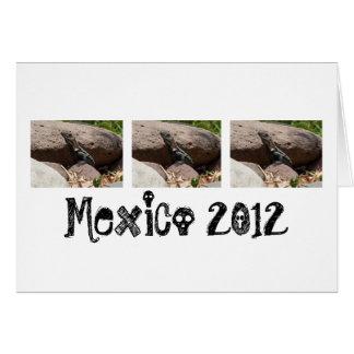 Pequeña iguana en las rocas; Recuerdo de México Tarjeta De Felicitación
