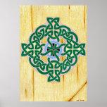 Pequeña impresión (combinada) de la cruz céltica posters