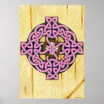 Pequeña impresión de la cruz céltica poster