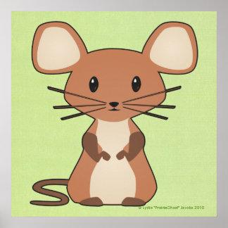 Pequeña impresión del ratón posters