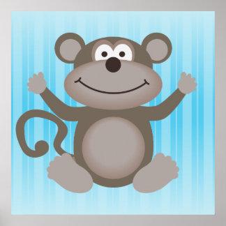 Pequeña impresión linda del mono impresiones