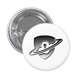 Pequeña insignia del logotipo de la seguridad del pin redondo de 1 pulgada
