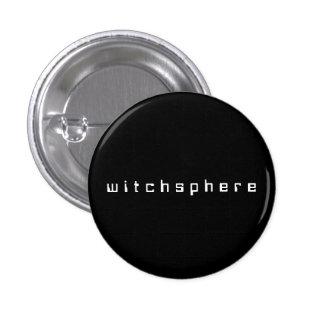 pequeña insignia del witchsphere (espacio) pin redondo de 1 pulgada