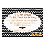 Pequeña invitación de Chevron Halloween