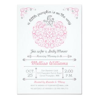 Pequeña invitación de encaje rosada de la fiesta invitación 11,4 x 15,8 cm
