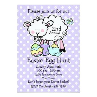 Pequeña invitación de la caza del huevo de Pascua