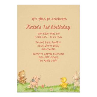 Pequeña invitación de la fiesta de cumpleaños de