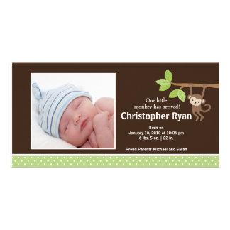 Pequeña invitación de la foto del nacimiento del b tarjetas fotograficas personalizadas