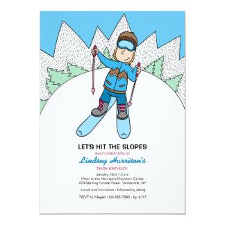 Pequeña invitación del esquiador