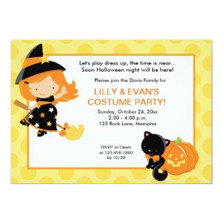 Pequeña invitación del fiesta 5x7 de Halloween de