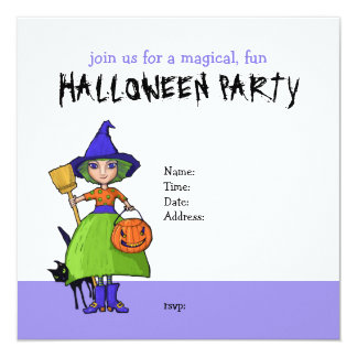 Pequeña invitación del fiesta de Halloween de la
