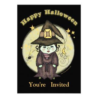Pequeña invitación del fiesta de Halloween de la b