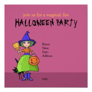 Pequeña invitación del fiesta de Halloween del