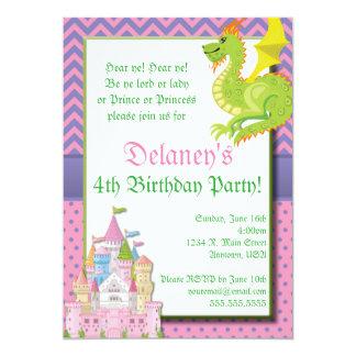 Pequeña invitación del fiesta de la princesa