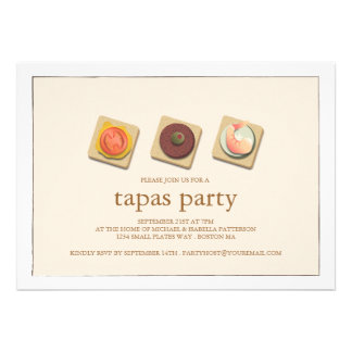 Pequeña invitación del fiesta de los Tapas del trí