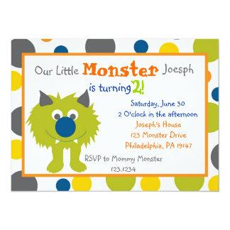 Pequeña invitación del monstruo invitación 13,9 x 19,0 cm