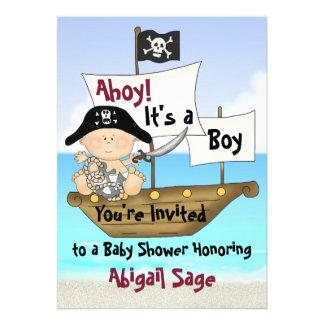 Pequeña invitación del pirata de la fiesta de bien