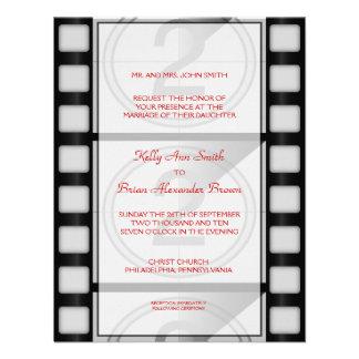 Pequeña invitación rectangular del cine