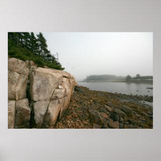 Pequeña isla de los alces póster