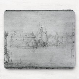 Pequeña isla fortificada, Amsterdam, 1562 Tapete De Ratones