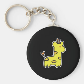 pequeña jirafa linda llavero redondo tipo pin