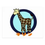 Pequeña jirafa postal