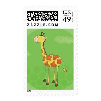 Pequeña jirafa franqueo