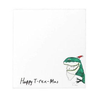 Pequeña libreta del navidad T-Rex-Mas Blocs De Papel
