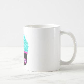 Pequeña magdalena dulce taza básica blanca