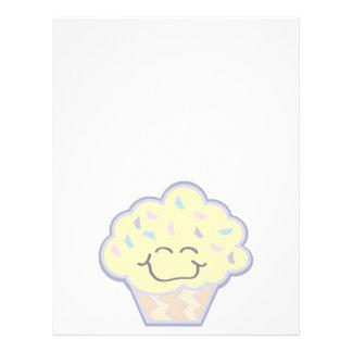 pequeña magdalena feliz de la vainilla tarjetas informativas