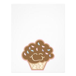 pequeña magdalena feliz del chocolate tarjetas informativas