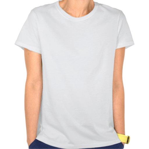Pequeña mano roja del gallo coloreada camisetas