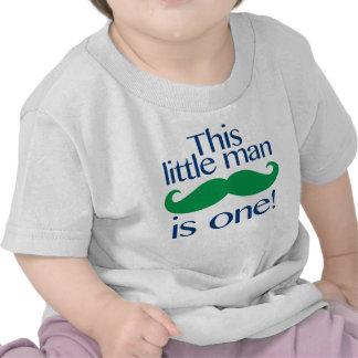 Pequeña marina de guerra y verde de la camisa del