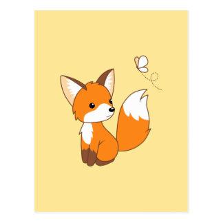 Pequeña mariposa de observación linda del Fox Tarjeta Postal
