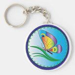 Pequeña mariposa llavero personalizado