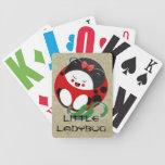 Pequeña mariquita oriental cartas de juego